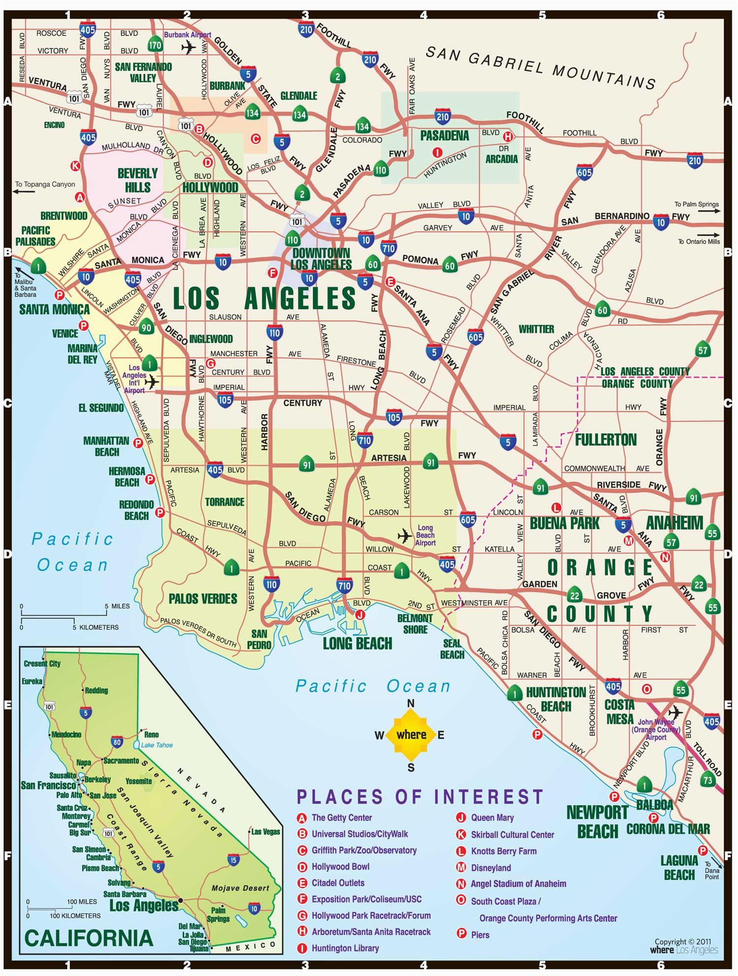 la map where magazine los angeles map