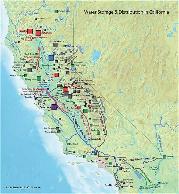 California Aqueduct Map Map Of California Aqueduct | secretmuseum