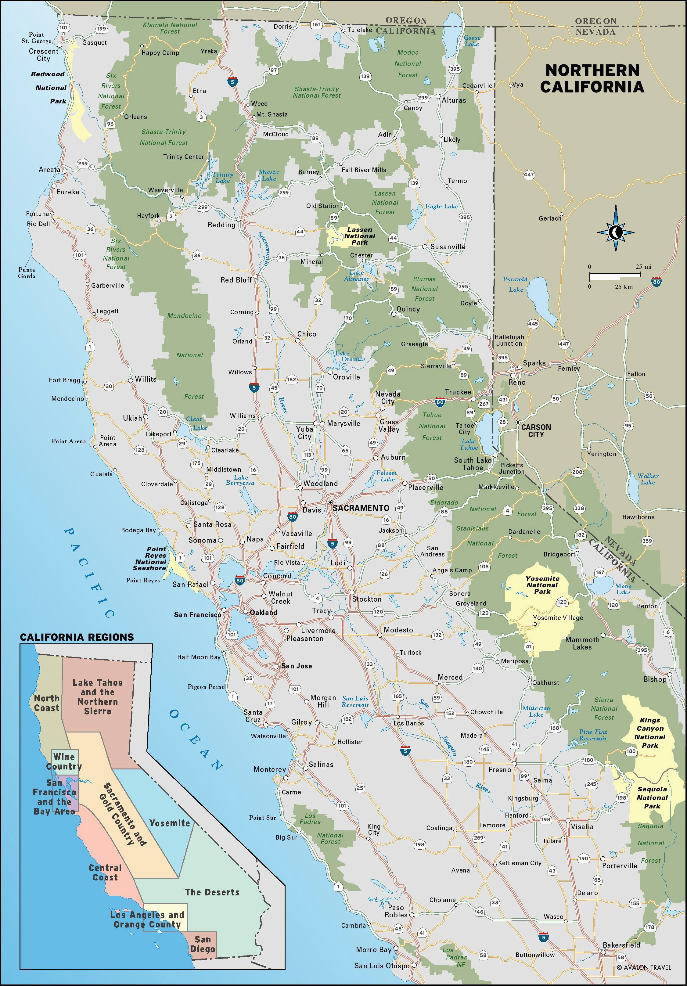 California Central Coast Map on