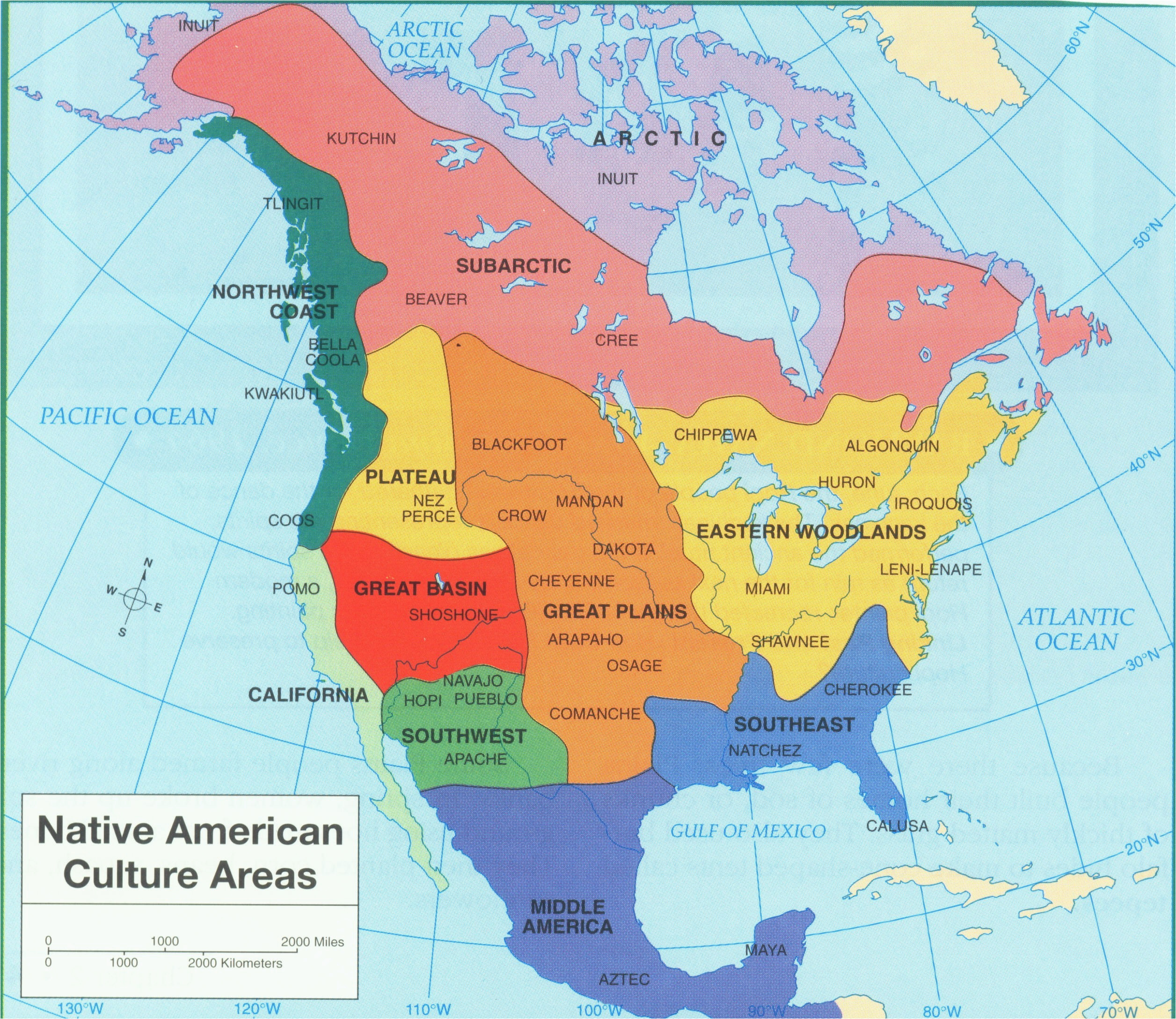 Map Of California Native American Tribes Us Native American Tribes ...