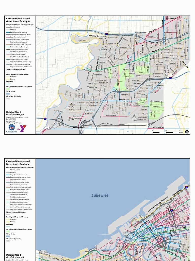 Map Of Cleveland Ohio Neighborhoods Maps 4 17 13 Mid