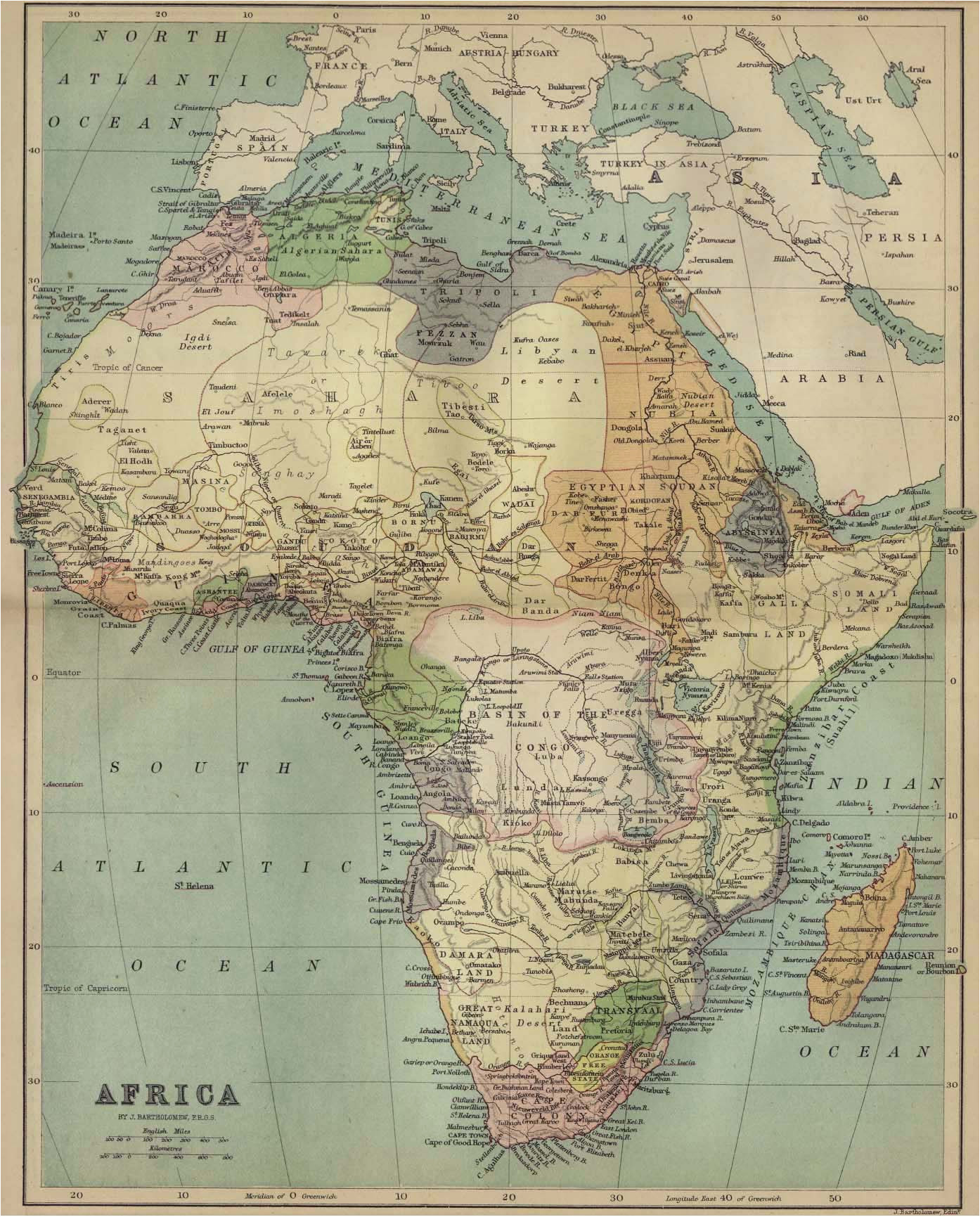 africa historical maps perry castaa eda map collection ut library