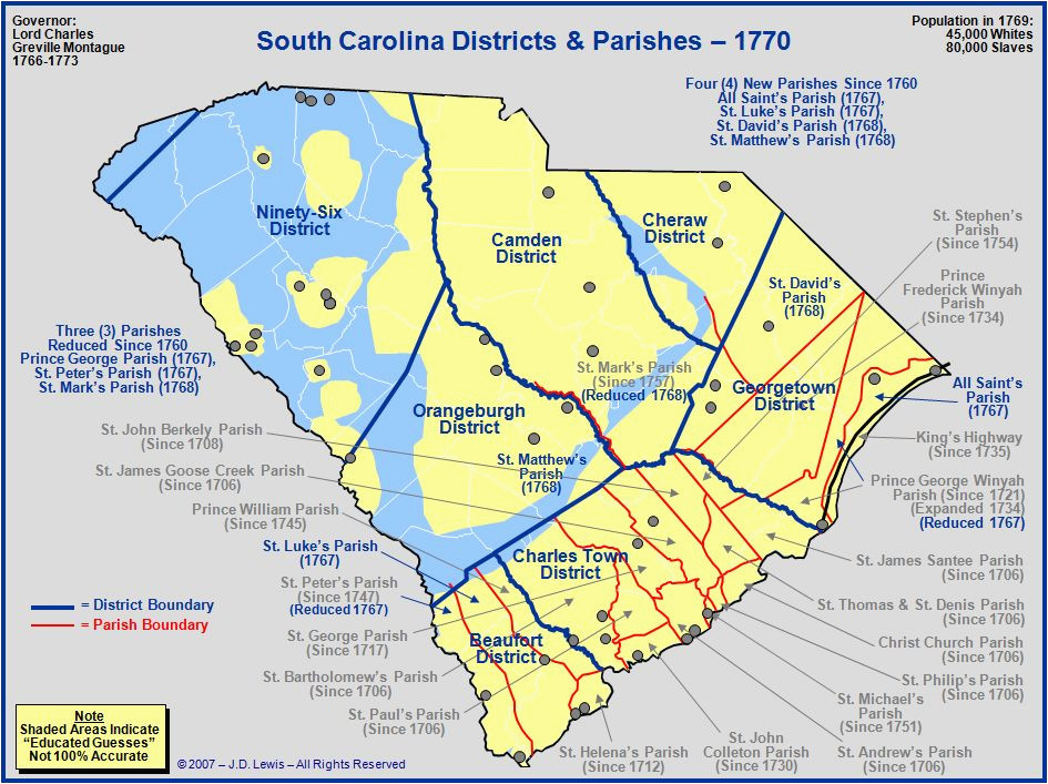 to 1760 map to 1775 map sc sea islands our historic past