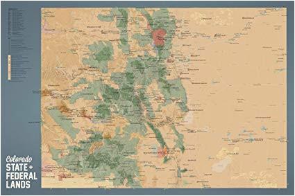 amazon com best maps ever colorado state parks federal lands map