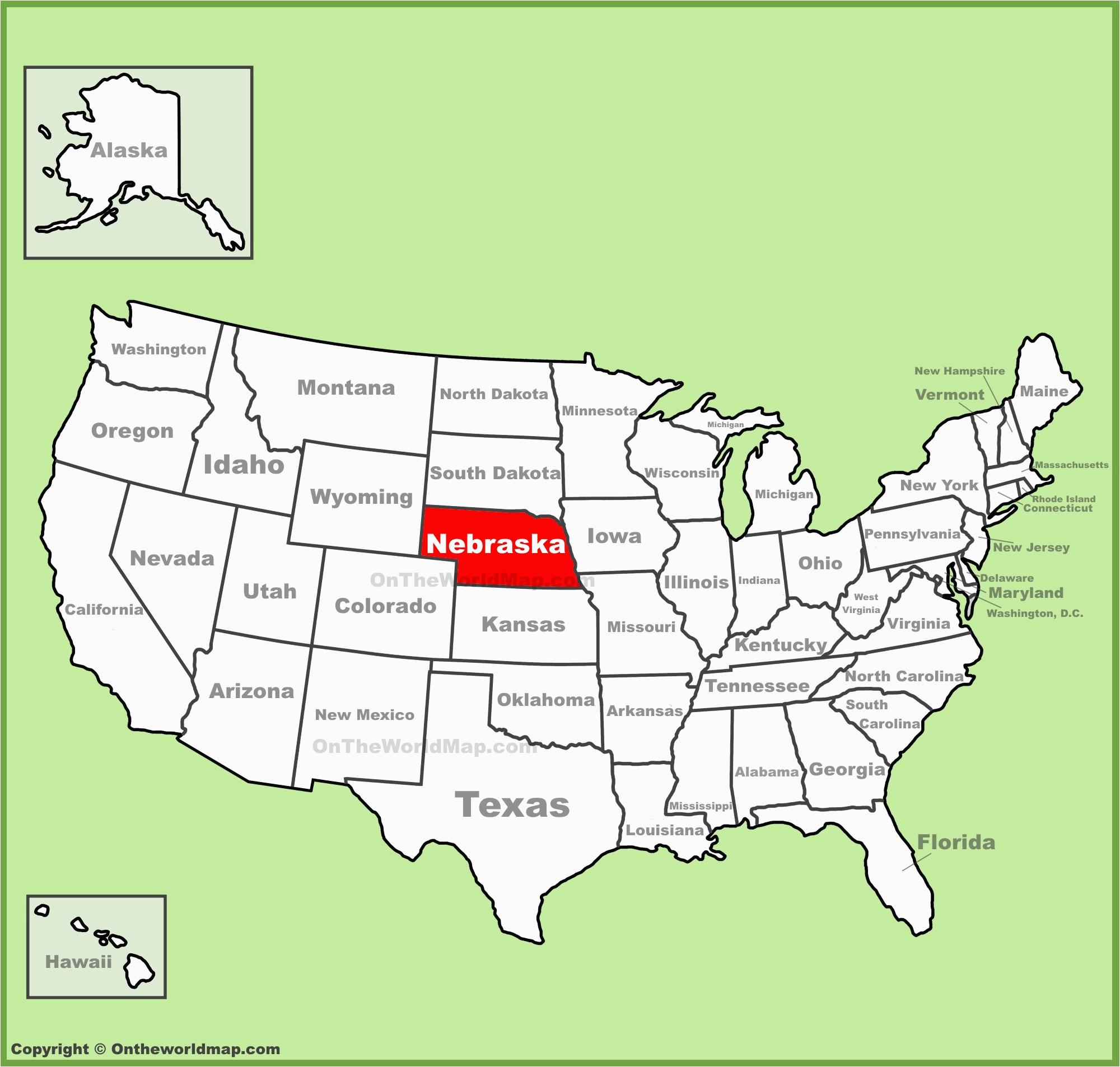 nebraska state maps usa maps of nebraska ne
