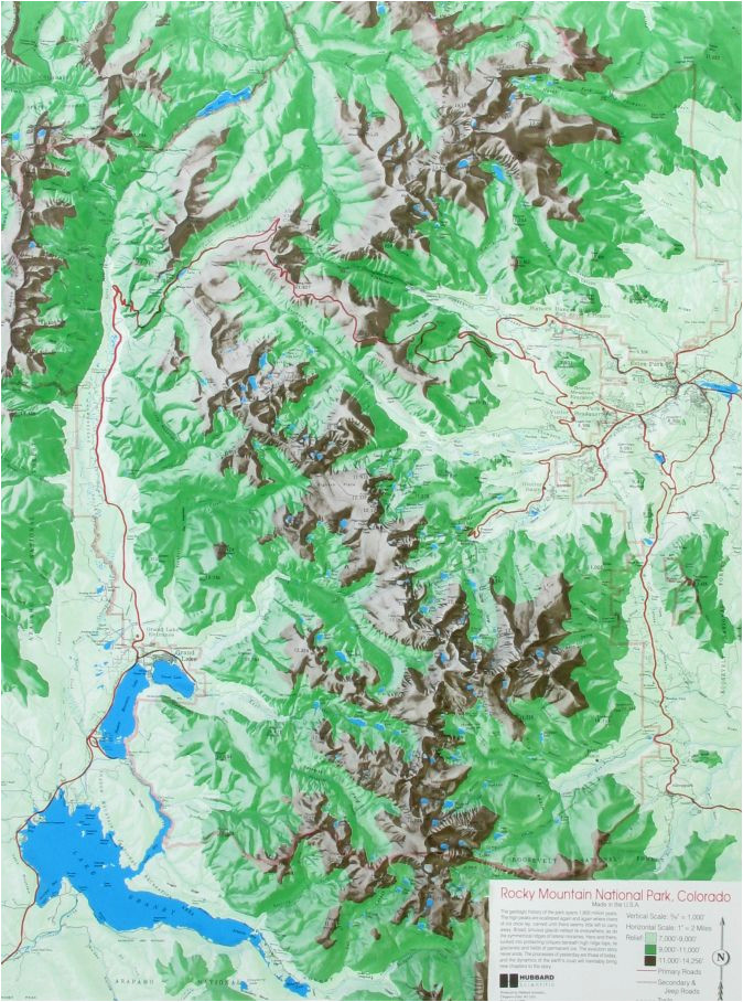 raised relief map of rocky mountain national park colorado to do