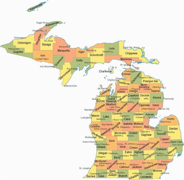michigan counties map maps pinterest michigan county map and