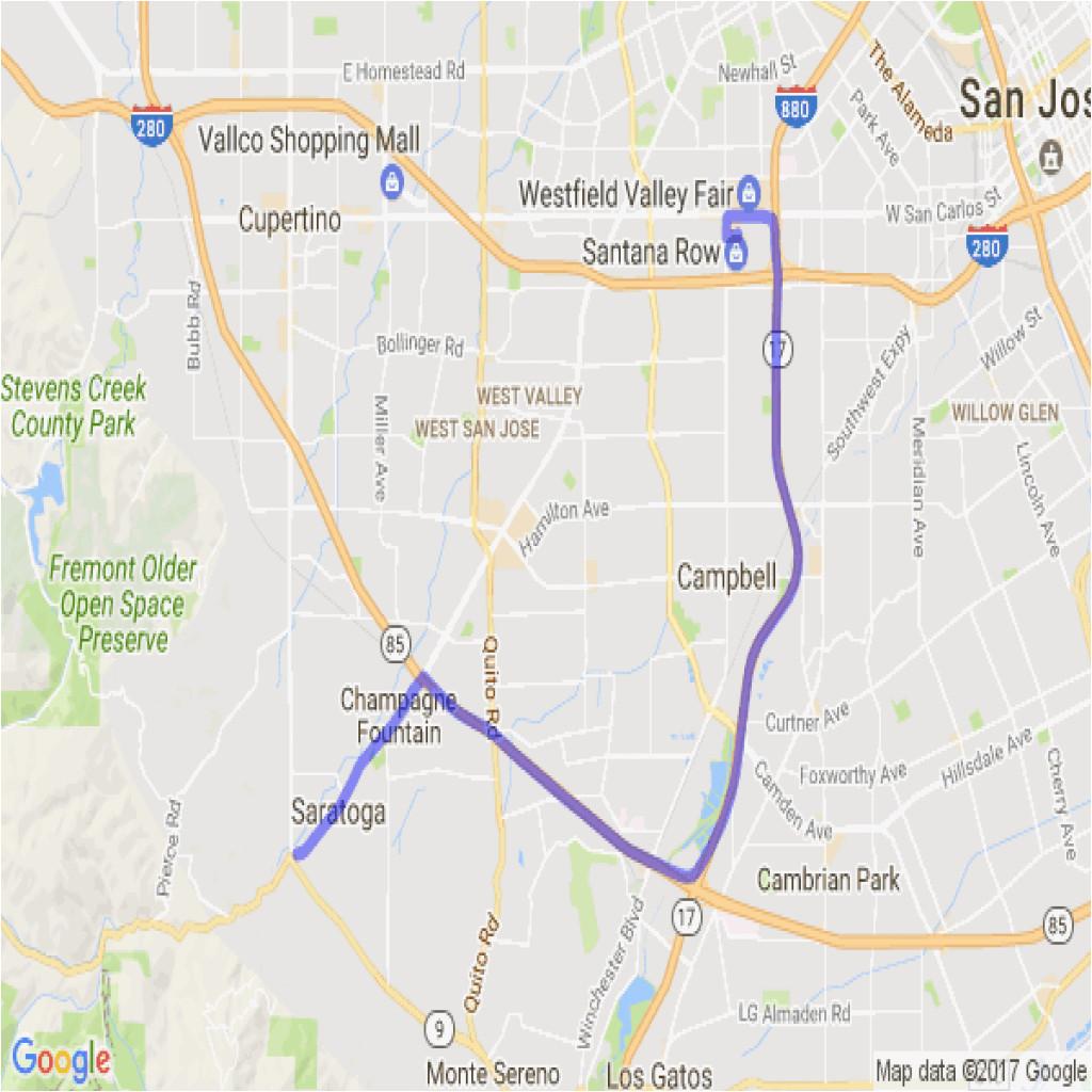 saratoga california map www bilderbeste com