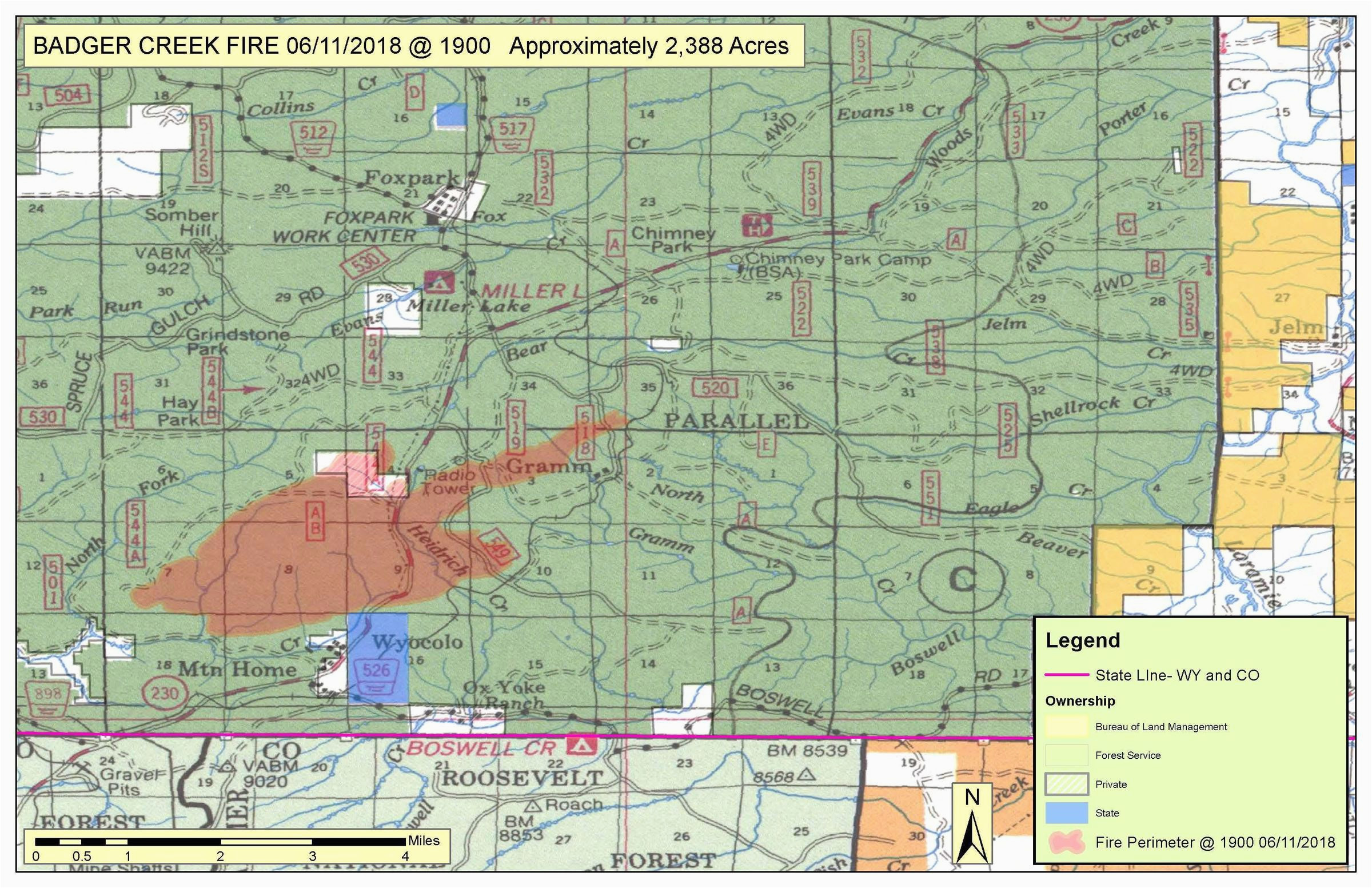 Map Of Current Colorado Wildfires Wildfire In southern Wyoming Grows ...