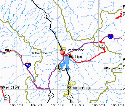 Map Of Dillon Colorado Silverthorne Colorado Co 80497 Profile Population Maps Real