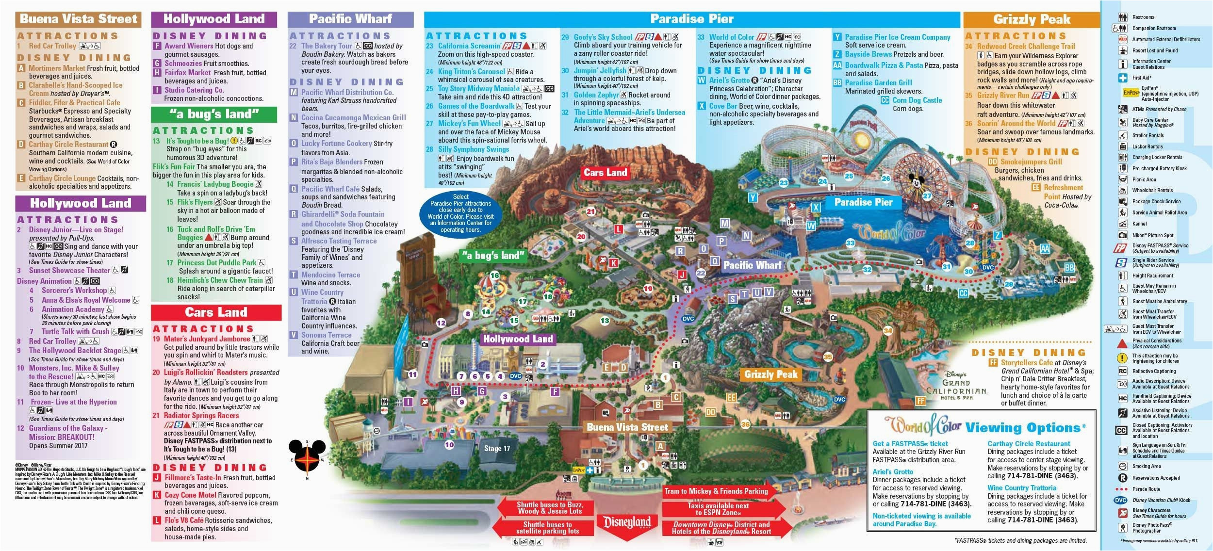 photo about Printable Map of Disneyland named Map Of Disney California Journey Park secretmuseum