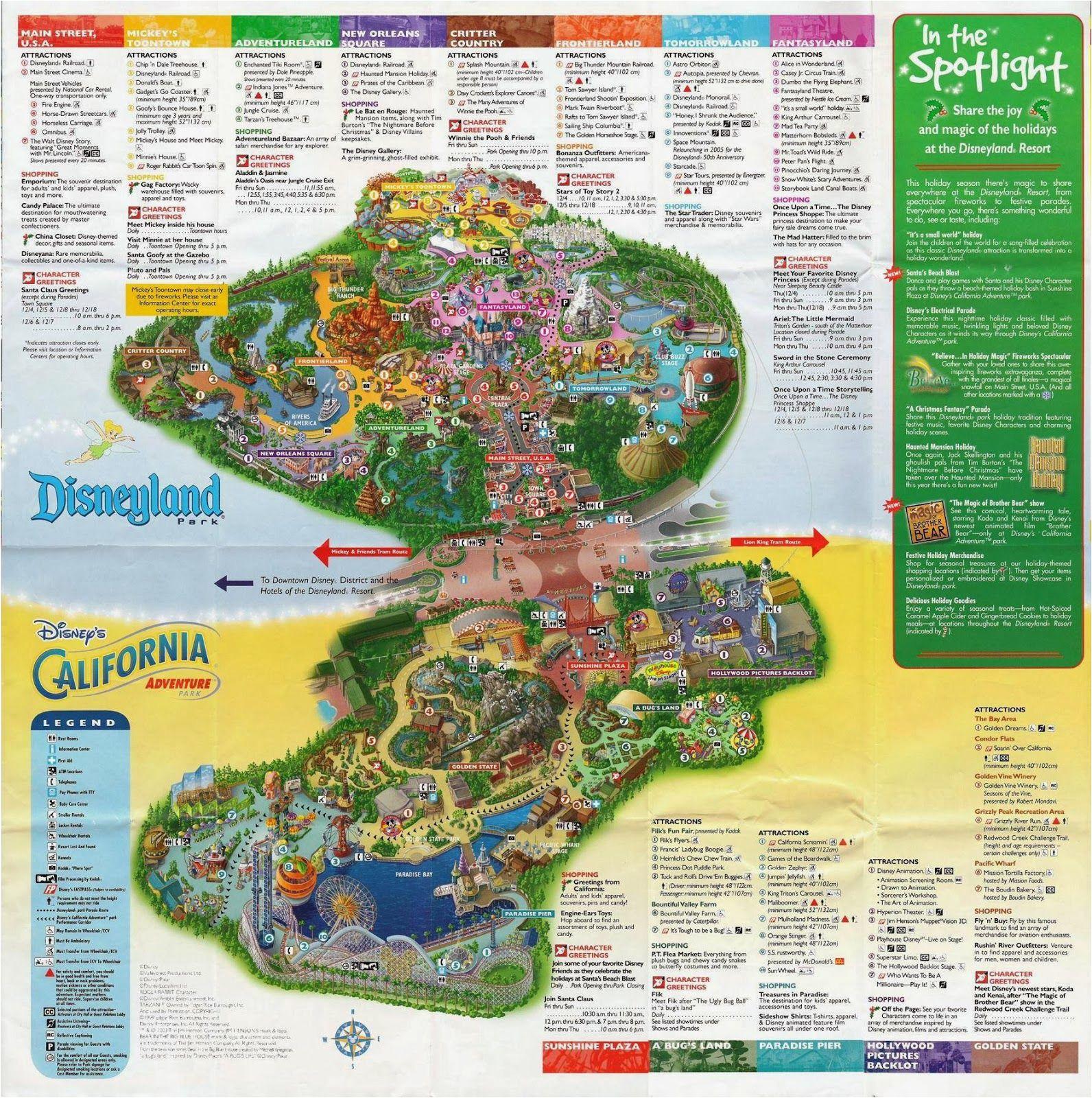 Map Of Disneyland and California Adventure Park | secretmuseum