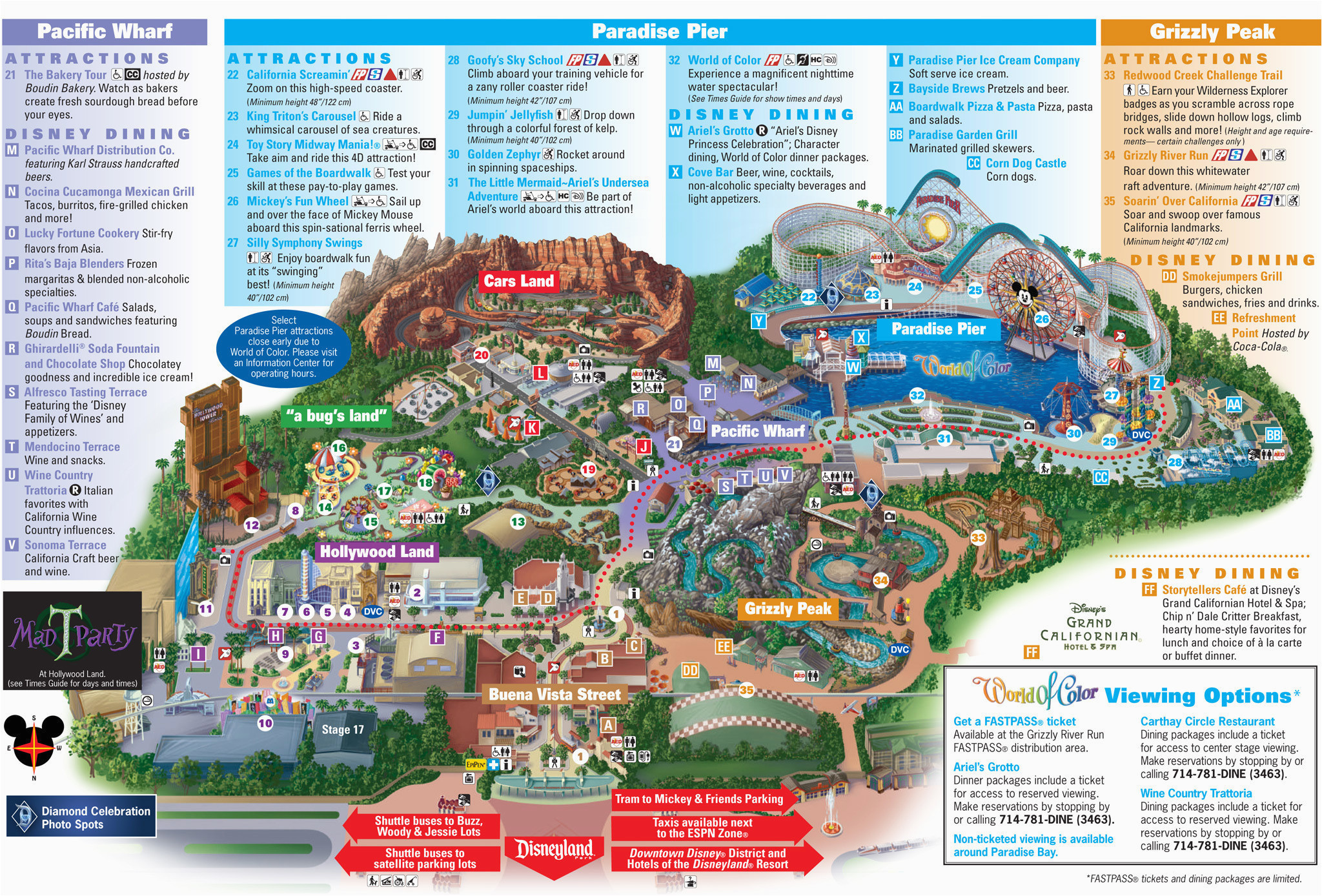 California Adventure Park Map Map Of Disneyland and California Adventure Park Map Of Disney