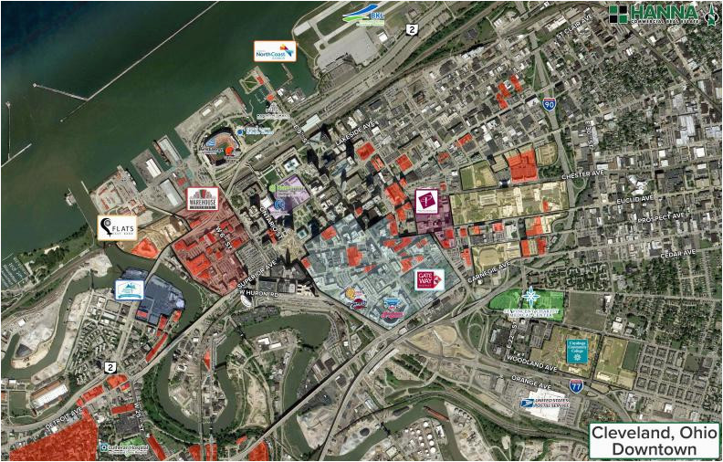 map of downtown cleveland elegant cleveland s transformation of