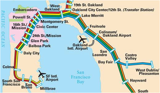 Map Of East Bay area California San Francisco Maps for Visitors Bay Map Of Sf Bay Area on