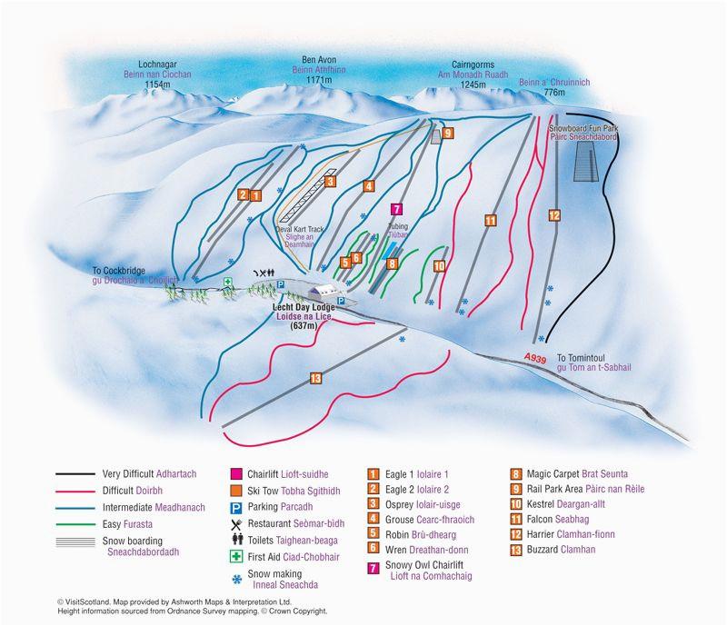 lecht 2090 resort piste map scotland design maps wayfinding