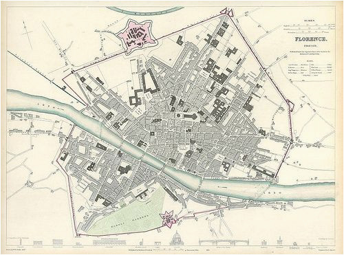 here s a much newer map of the walls of florence alas it has the