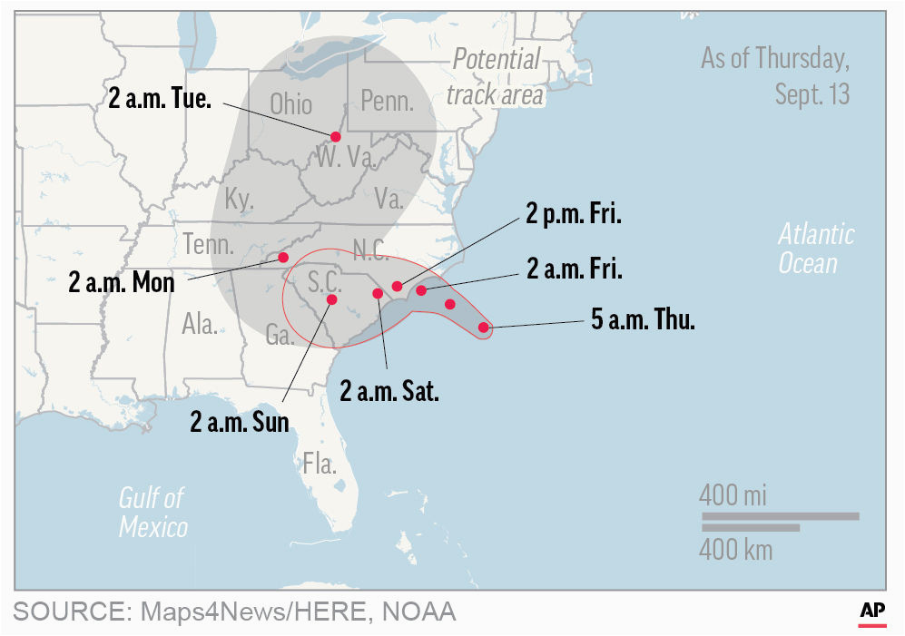 hurricane florence begins soaking the carolina coastline news