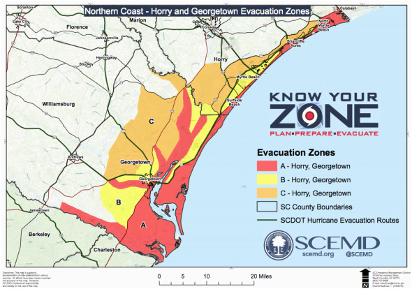 reports evacuations underway from south carolina to virginia as