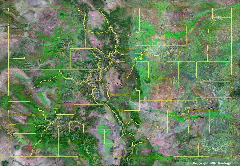 colorado county map