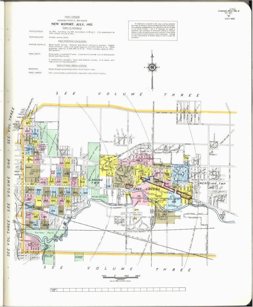 map of genesee county mi unique sanborn maps 1900 1999 michigan ny