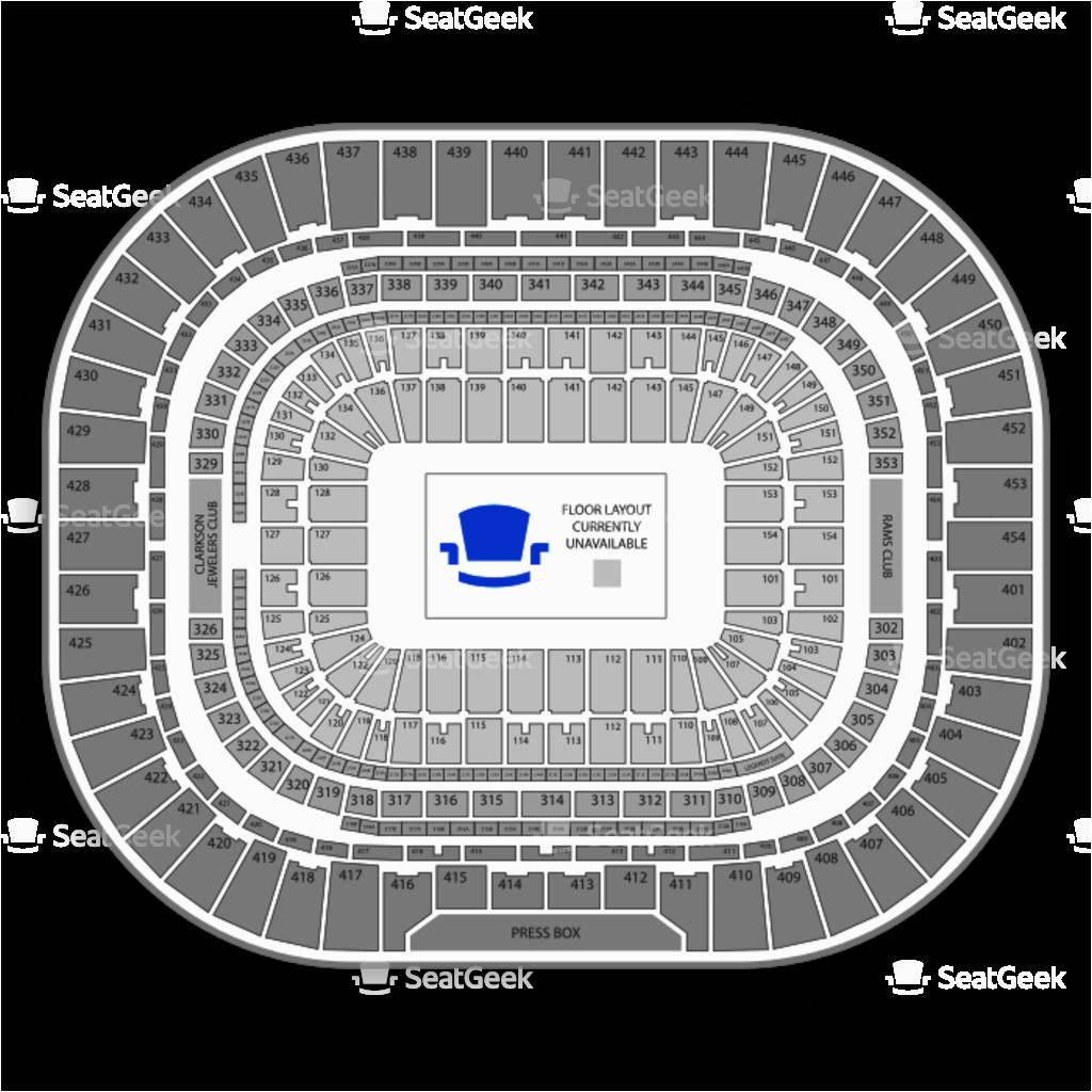 the dome at america s center seating chart map seatgeek