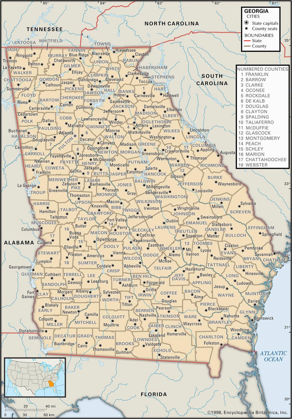 state and county maps of georgia