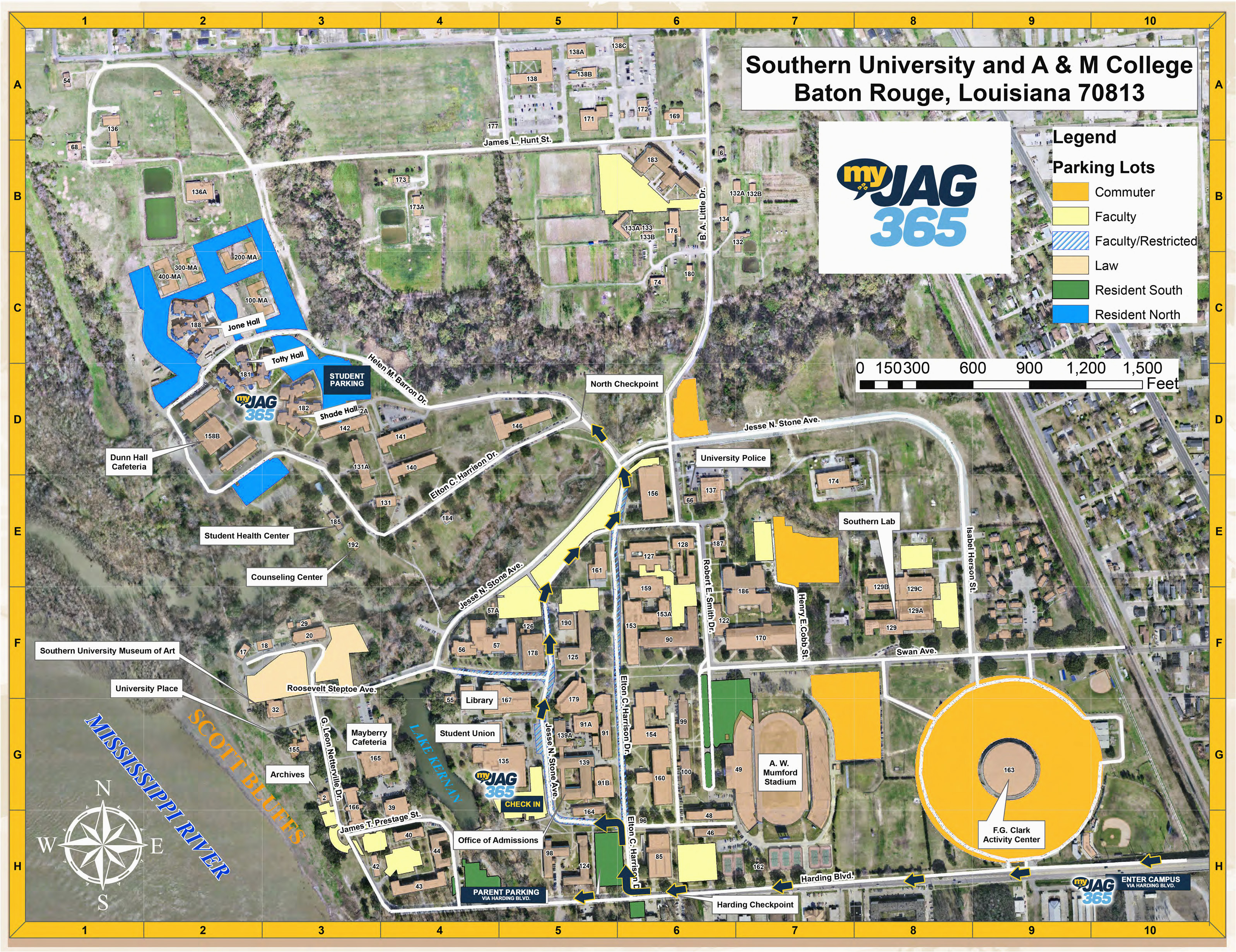 campus map southern university and a m college