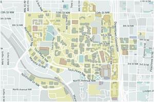 Map Of Georgia Tech | secretmuseum