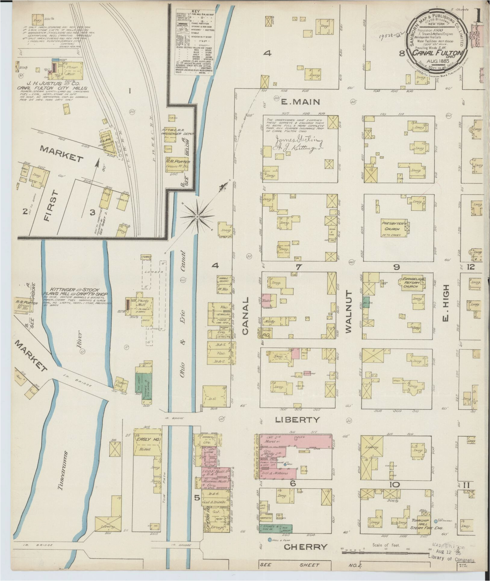 map 1880 to 1889 sanborn maps ohio library of congress