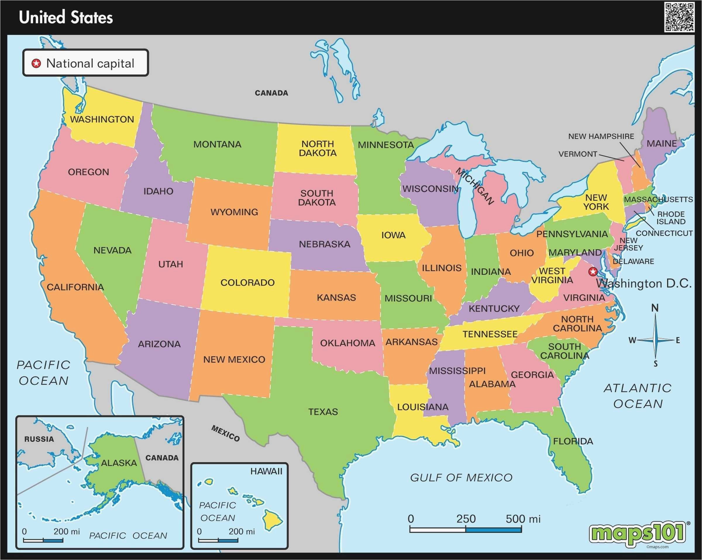 Map Of Hawaiian islands and California United States Map ...