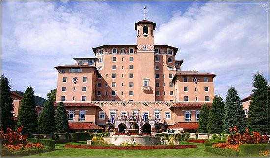 map of colorado springs hotels and attractions on a colorado