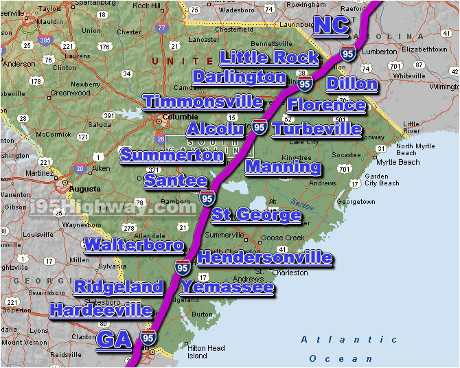 Map Of I 95 Map Of I 95 north Carolina | secretmuseum