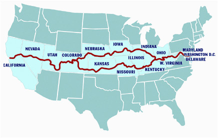 possible route to go through west virginia kentucky missouri