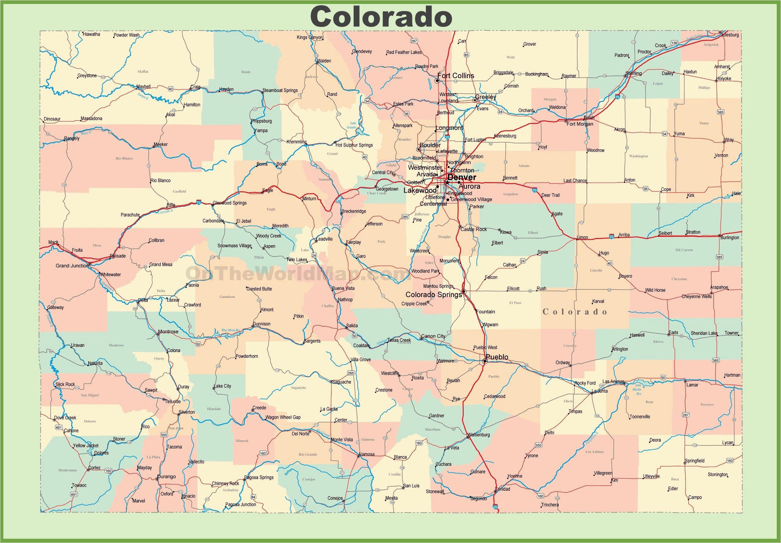 colorado lakes map lovely colorado pocket maps maps directions