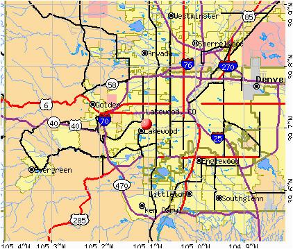 Map Of Lakewood Colorado | secretmuseum
