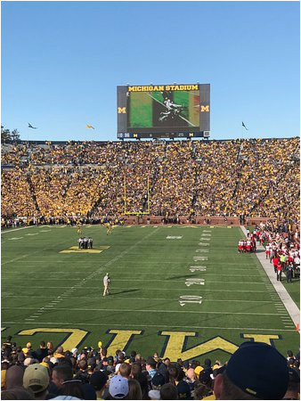 north end and student section picture of michigan stadium ann