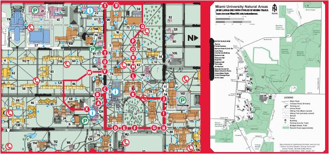 Oxford University Campus Map.Map Of Michigan Universities Oxford Campus Maps Miami University