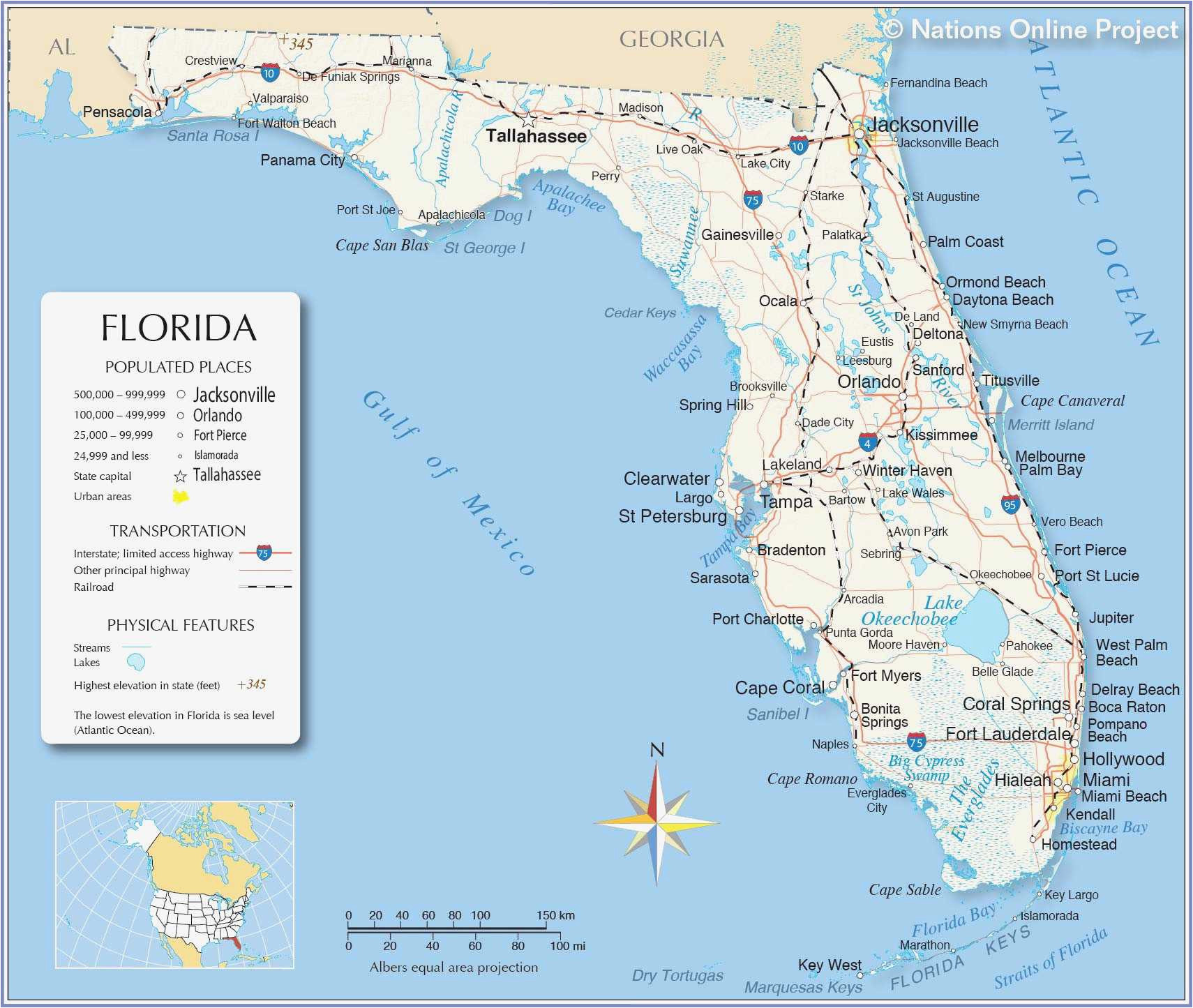 Map Of Michigan West Coast Map Of Florida West Coast Cities ...