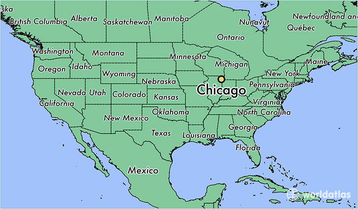where is chicago il chicago illinois map worldatlas com