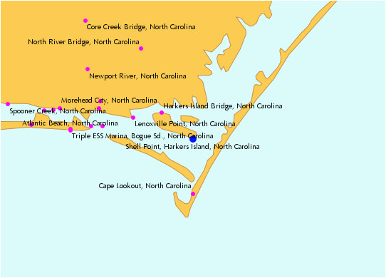 Map Of Morehead City north Carolina Tide Locator Map Harker S island island