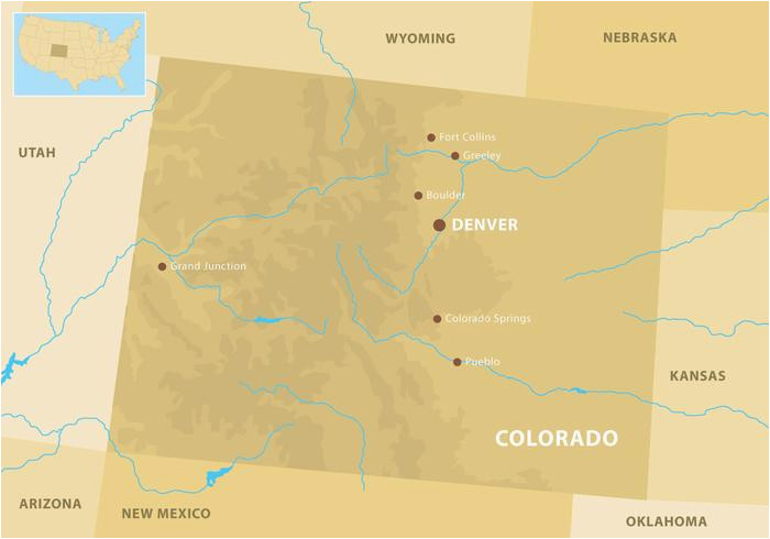Map Of Mountains In Colorado Colorado Mountains Map Download Free Vector Art Stock Graphics
