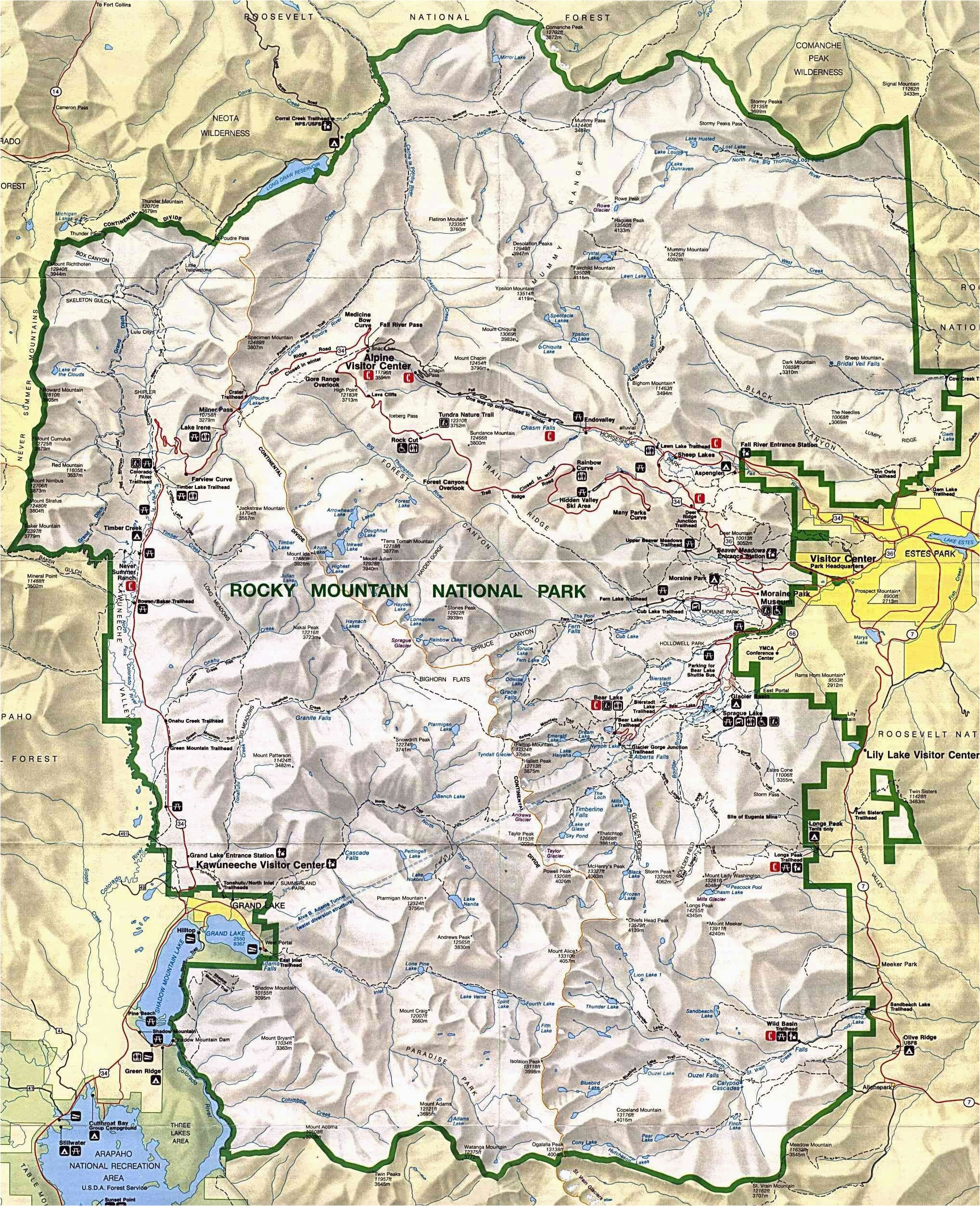 colorado mountains map elegant colorado mountain range map valid map