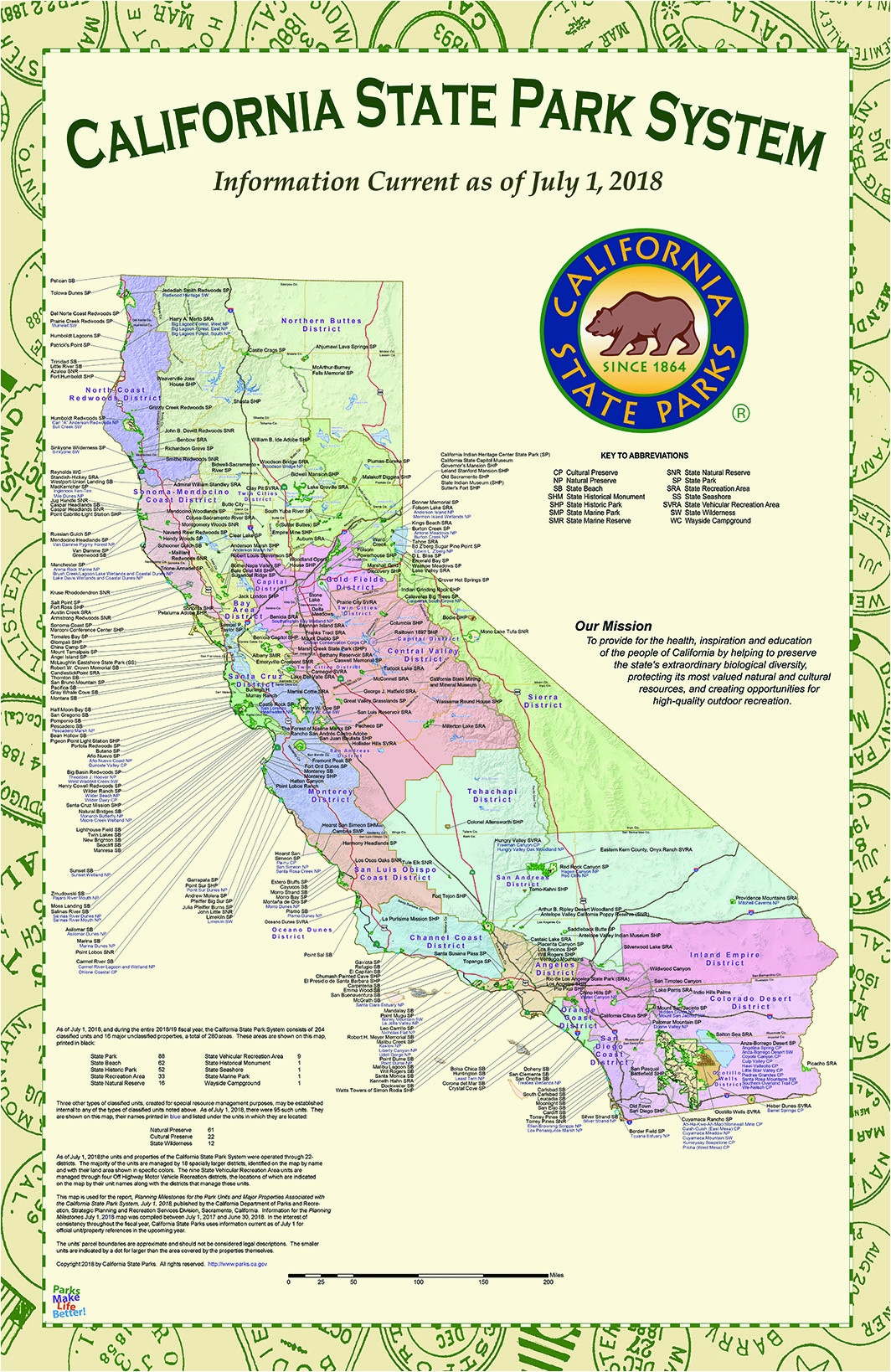 california state park maps