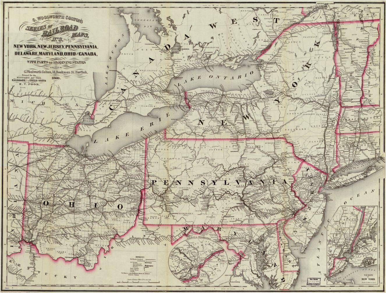Map Of New Philadelphia Ohio New York New Jersey Pennsylvania