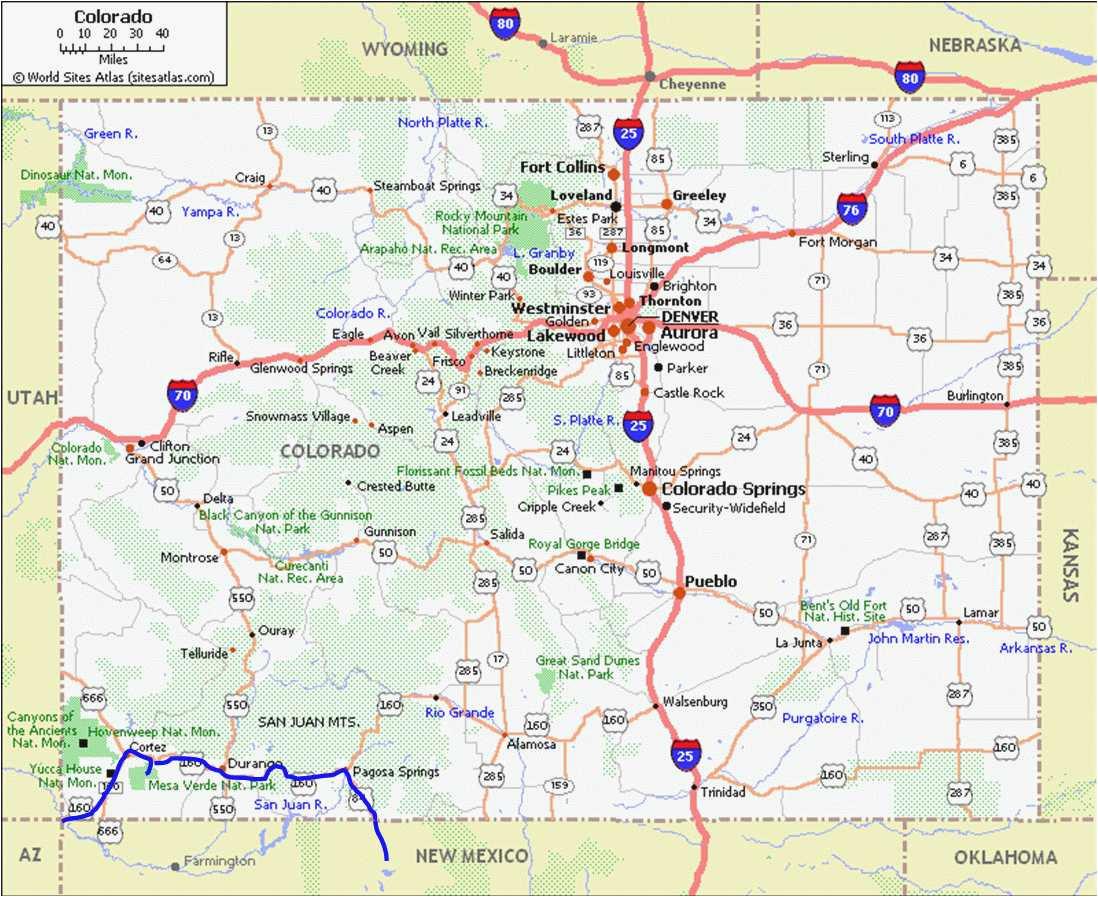 Map Of Colorado Springs Area Map Of Pagosa Springs Colorado Pagosa Springs Co Map New Colorado