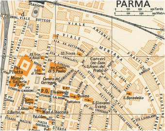 map of parma etsy