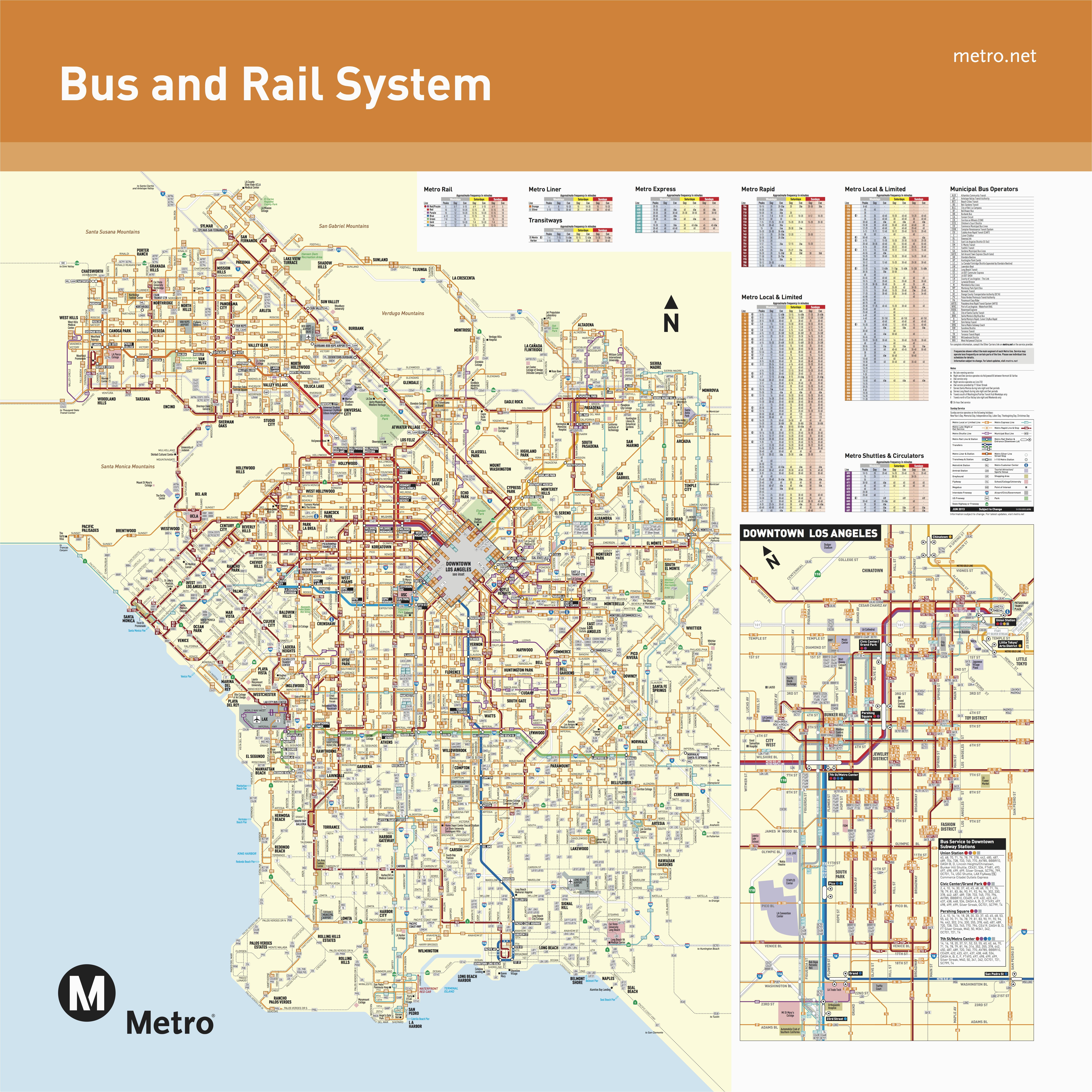 Map Of Redondo Beach California June 2016 Bus And Rail