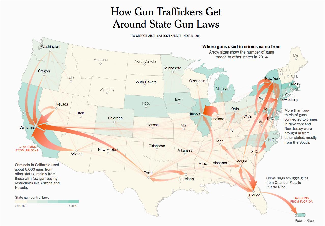 flow map dataviz geospatial pinterest guns law and gun control
