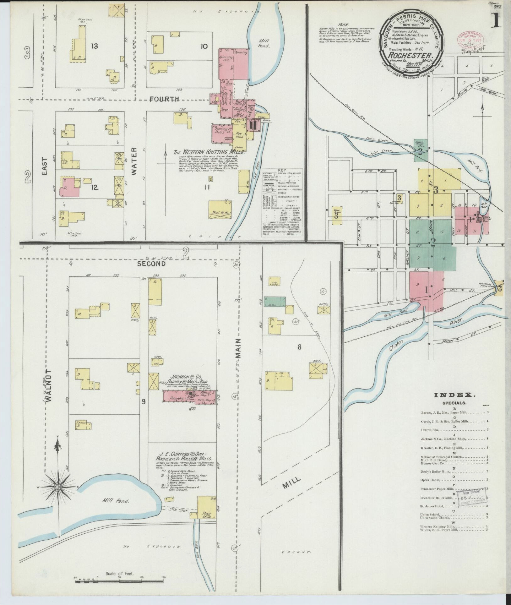 sanborn maps oakland county rochester michigan library of congress